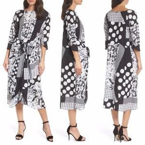 New CAARA Krefeld Scarf Print Midi Dress